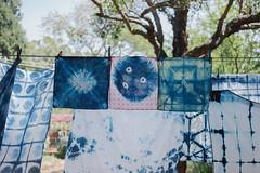 shibori handkerchiefs () Tags: indigo craft melbourne workshop dye dyeing shibori sonya7  sel35f28z