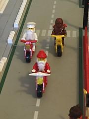 Hogs (redlegorev) Tags: santa christmas winter holiday saint square town village lego nicholas motorcycle claus chewbacca