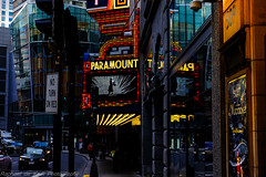 An Old Picture Palace Revived! (Raphael de Kadt) Tags: urban boston architecture outdoors lights theatre streetphotography edifices emersoncollege theparamount picturepalace viewfromthestreet