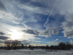 January 18, 2016 - A very nice late afternoon with a beautiful sky. (LE Worley)