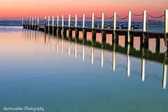 North Narrabeen Morning (darrinwalden Photography) Tags: ocean colour reflection pool fence dawn timber north sydney australia calm serene narrabeen
