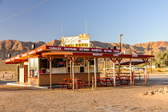 The original site of the first Del Taco (Snap Man) Tags: california unitedstates desert deltaco mojavedesert eatdrink sanbernardinocounty tacoshop yermo byklk