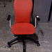 Red fabric  swivel chair