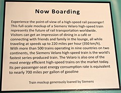 Siemens High Speed Train mock-up Info (Jack Snell - Thanks for over 21 Million Views) Tags: california ca old railroad wallpaper classic wall museum speed train vintage paper high state antique siemens historic mockup oldtimer sacramento veteran jacksnell707 jacksnell