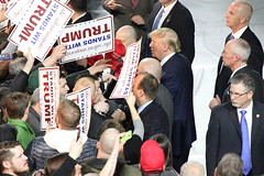 Donald Trump in Muscatine, Iowa (evan.guest) Tags: president political politics rally iowa donald presidential des trail trump campaign moines caucus caucuses