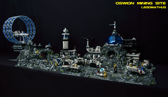 01_OSWION_Mining_Site (LegoMathijs) Tags: expedition layout wire mod energy power lego crystal space el vehicles astronauts modular planet scifi 20 functions mindstorms drill containers grapple spaceships miners moc nxt ores foitsop legomathijs oswion