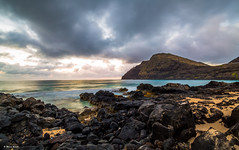 Absence (dinero57) Tags: longexposure seascape clouds sunrise canon landscape hawaii seaside makapuu canondigital canonphotography eos5dmarkiii