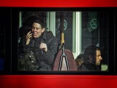 Overheard (Douguerreotype) Tags: street city uk england people urban bus london britain candid gb british