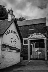 Tobermory Distillery (Nathan Reading) Tags: blackandwhite bw heritage tourism island scotland highlands scottish tourist whisky mull tobermory singlemalt