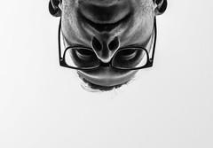 dual-camera-adventure-19 (pyffle) Tags: portrait blackandwhite bw selfportrait closeup nose glasses nikon upsidedown bnw selfie nikond80 nikonphoto