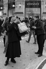 The other side of faith (Fabio Tenuti) Tags: bw italy white black mi canon eos is italia god milano e dio 28 usm bianco nero efs galleria fede tecnology tecnologia 1755 50d