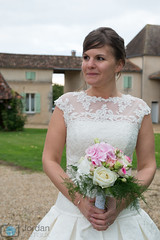 Happy wife (grimaux.jordan) Tags: flowers wedding woman girl female married dress young just wife domain