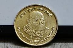 Acharya Shri Tulsi 100th Centenary (baid sumit) Tags: coin 100 tulsi shri centenary achraya