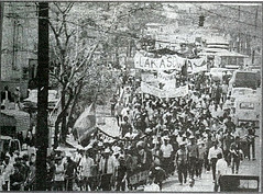 A group of Lakasdiwa protesters rally against the suspension of the writ of habeas corpus, sometime in September 1971 (Presidential Museum and Library) Tags: martiallaw