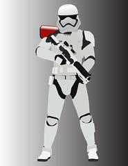 My first Illustrator drawing! (AlienHunter143) Tags: starwars gun stormtrooper sw illustrator minimalist commander firstorder alienhunter alienhunter143