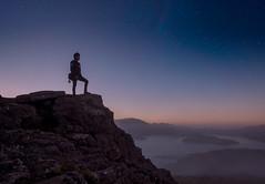 Port Hills (DanielBartolo) Tags: morning newzealand mountain sunrise stars landscape rocks foggy hills gondola goldenhour porthills chrischurch purenewzealand danielbartolo