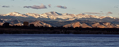 Snow Capped Mt. Evans (dcstep) Tags: urban mountain nature snowcapped urbannature handheld rockymountains sanctuary allrightsreserved mountevans mtevans cherrycreekstatepark ef70200mmf4lis pixelpeeper canon5dsr dxoopticspro1054 copyright2016davidcstephens f4a4608dxo