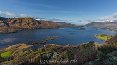 Dont Look Down (Steven Peachey) Tags: light sky lake mountains water clouds landscape view cumbria derwentwater hawkdog