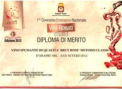 d'Arapr e Vini Rosati d'Italia 2012 (Sparkling Wines of Puglia) Tags: ros brut spumante brutros darapr vinirosati