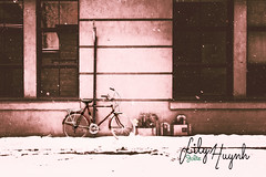 BikeSnowing.jpg (Jylia001) Tags: old snow bike port vintage photography montreal snowing product