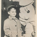 Little boy poses with an Easter bunny