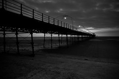 Southport Pier at Dusk (tabulator_1) Tags: blackwhite southport southportpier