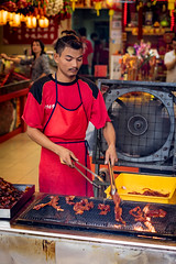 Grilling Pork (AdeyH) Tags: street city urban restaurant asia chinatown chinese malaysia kuala kl lumpur
