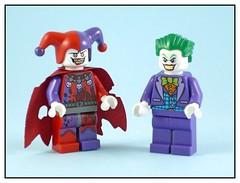Joker vs Jestro 1 (noriart) Tags: dc lego knights joker vs superheroes nexo jestro