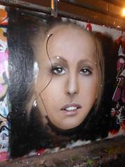 Mr Shiz graffiti, Leake Street (duncan) Tags: graffiti leakestreet shiz mrshiz girl