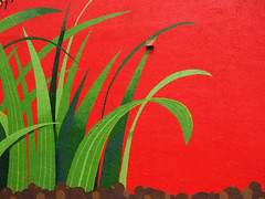Complementary Colors (Professor Bop) Tags: red building green palms wallart structure mosca complementarycolors drjazz delraybeachflorida professorbop olympusem1