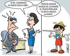 Truco político (Caricaturascristian) Tags: nariz políticos truco pinocho campaña prm mentiras prd pld promesas político engaños prsc
