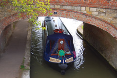 150913 Village at War-0131 (whitbywoof) Tags: bridge blue boat canal long narrow