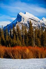 Framed in Snow (stevenbulman44) Tags: blue winter red sky mountain canon outdoor tripod brush filter banff polarizer gitzo mountrundle lseries 70200f28l