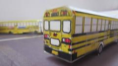 Half Hollow Hills CSD Bus #14 (Etienne Luu) Tags: half hollow hills csd 14 blue bird corporation all american tc2000 fe paper cardstock model school bus