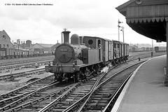 c.1957 - Eastleigh, Hampshire. (53A Models) Tags: railroad train adams o2 railway hampshire steam locomotive freight southernrailway eastleigh britishrailways lswr 30233 044t