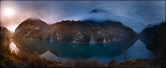Drina (a.Kry) Tags: sunset panorama sun mountain nature water river landscape scenery pano      drina   bosniaandherzegovina  hdrpanorama hdrpano  akryphotoart
