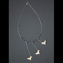 origami cocottes (fabrikarine) Tags: fleur vintage collier origami bijoux plastic boucle fou cuivre doreille
