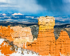Bryce Canyon 24 (MarcCooper_1950) Tags: trees red sky orange snow colors clouds landscape utah nikon scenery rocks vivid canyon cliffs hills southern boulders hoodoo bryce rainfall hdr formations lightroom mounatins brycecanyonnationalpark geologic d810 marccooper
