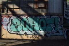 ZOHOT (TheGraffitiHunters) Tags: street blue white black brick art abandoned dark graffiti colorful paint factory spray warehouse zohot