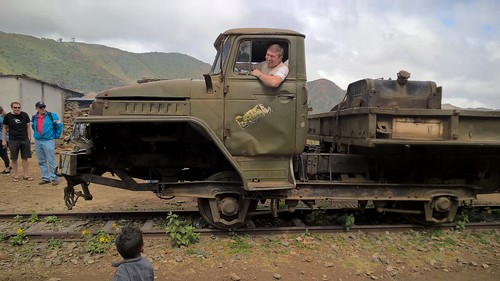 Truck train from the struggle time