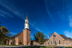 Reveille United Methodist Church (John H Bowman) Tags: november virginia churches richmond 2015 methodistchurches warmsunlight canon1635l november2015 reveilleunitedmethodistchurch blueskieswispyclouds