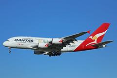 VH-OQH Airbus A380-842 Qantas Go Wallabies Livery Heathrow 16th February 2016 (michael_hibbins) Tags: