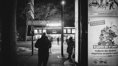 Colombes, rue du Bournard I 2016 (hp chavaz) Tags: street urban blackandwhite bw france monochrome night blackwhite fuji fujifilm subject 2016 fav10 colombes unexplored xpro1 xf18mm