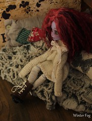 Winter Cardinal (WinterfogDolls) Tags: winter cats monster fog high doll dolls gothic barbie dal sd bjd blythe dollfie luts mh dall lut momoko sd13 winterfog monsterhigh bjd13