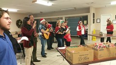 Holly's group went A-caroling to nursing homes at Christmas