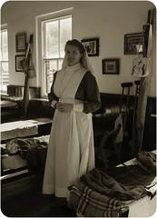 RAMC Hospital Ward With Nursing Sister WW1 (saxman1597) Tags: portrait england woman girl museum female uniform historic nurse ww1 sepiatone vad countydurham fieldhospital ramc nikond3300 nikon18300vr beamishmuseumgreatwarsteamfair