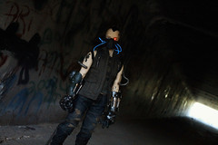 Artificial life underground (Damasquerade) Tags: light urban eye tattoo graffiti wire mod mask decay nelson led scifi gasmask glowing bjd cyborg cyberpunk impldoll