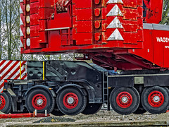 Terex Demag AC500 - Werkzaamheden bij de Rotterdamsebrug - Gouda (F. Berkelaar) Tags: nederland nl gouda zuidholland terex wagenborg demag ac500 wagenborgnedlift rotterdamsebrug zz8326