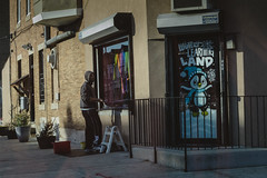 Paint the windows in West Philly, Philadelphia, Pennsylvania, United States of America
