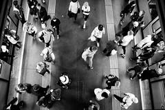 Going Home After Marathon (tomhuizi) Tags: vienna city people white black station subway metro marathon crowd ubahn bahn birdseyeview menschenmenge vogelperspektive vcm mirrorless